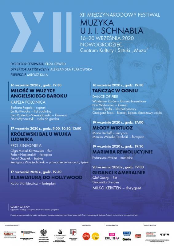 """XII Międzynarodowy Festiwal """"Muzyka uJózefa Ignacego Schnabla"""""""