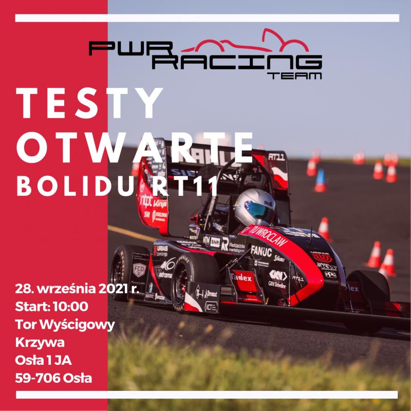 Otwarte testy bolidu wyścigowego studentów PWr